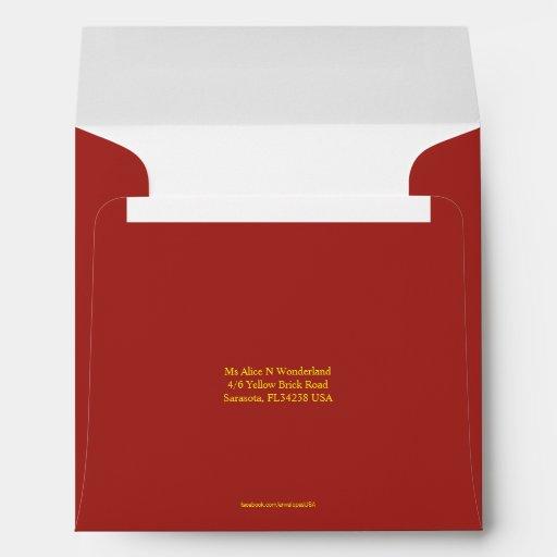 how to write address on envelope india