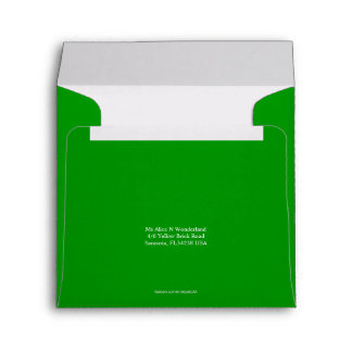 Envelope Square Mid Green Return Address