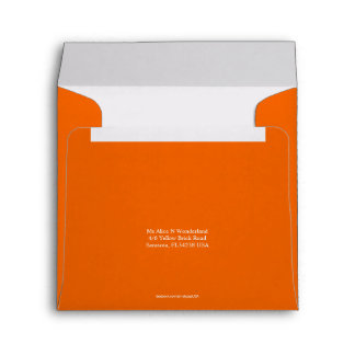 Envelope Square Orange Earth Return Address