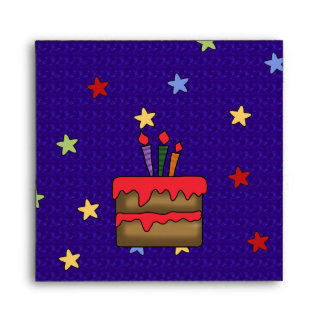 Envelope Stars Birthday Cake Candles