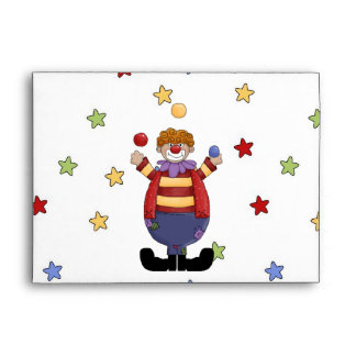 Envelope Stars Clown
