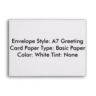 Envelope Style: A7 Greeting Card Paper Type: Basic