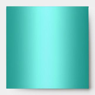 Envelope Teal Blue Square