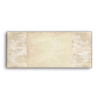 Envelope Vintage Music Sheet Scroll