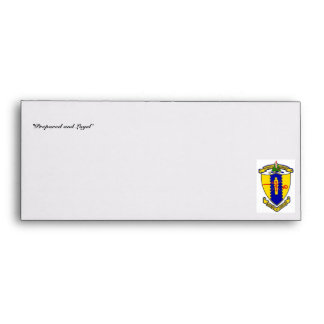 Envelope with 4th Cavalry crest and motto