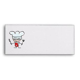 Envelope with cartoon chef