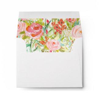 Envelope with Floral Liner