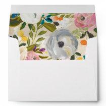 Envelope with Vintage Floral Liner