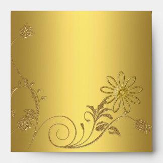 Envelope Yellow Bronze gold Look Image