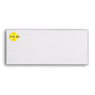 Envelope - yellow tennis ball design stationery