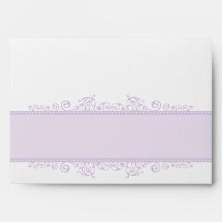 ENVELOPES pretty curls violet purple