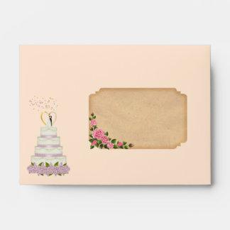enveloppe wedding cake envelope