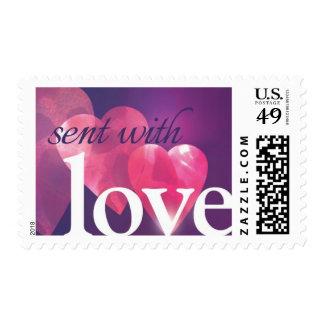 Enviado con franqueo del amor sello