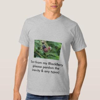 Enviado de mi camiseta de Blackberry Remera
