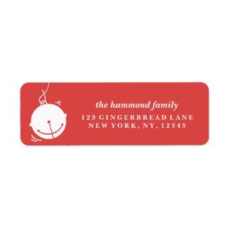 Enviando alegría del día de fiesta la etiqueta del etiqueta de remite