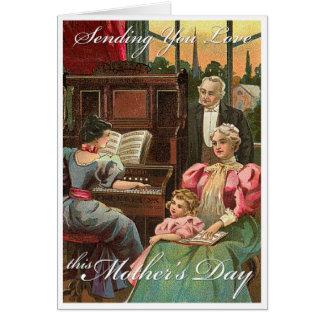 Enviándole amor tarjeta de felicitación