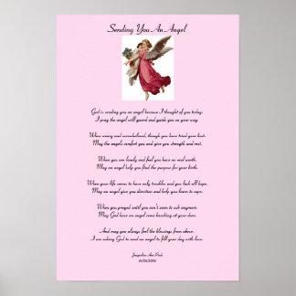 Enviándole un poster del ángel