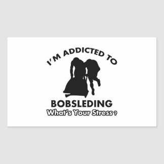enviciado a bobsleding pegatina rectangular