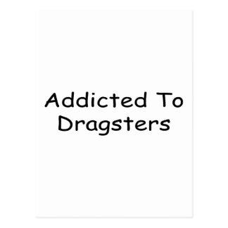 Enviciado a Dragsters por Gear4gearheads Tarjeta Postal