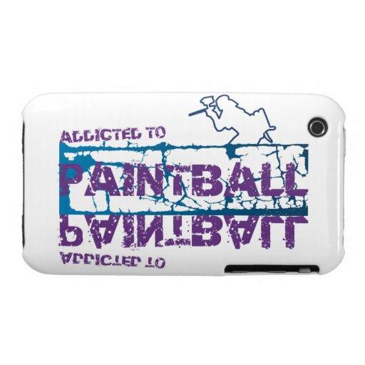 Enviciado a la caja de la casamata de Paintball iPhone 3 Protectores