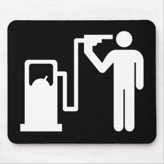 Enviciado a la gasolina tapete de raton