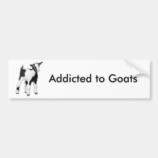 Enviciado a las cabras la pegatina para el paracho pegatina de parachoque