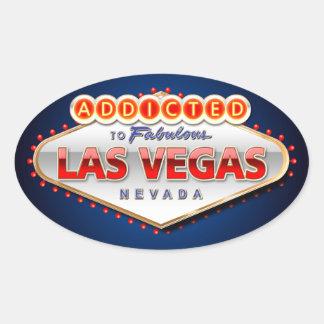 Enviciado a Las Vegas, muestra divertida de Nevada Pegatina Ovalada