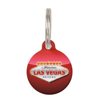 Enviciado a Las Vegas, muestra divertida de Nevada Placas De Mascota