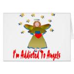 Enviciado a los ángeles tarjeta