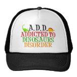 Enviciado a los dinosaurios desorden gorros bordados