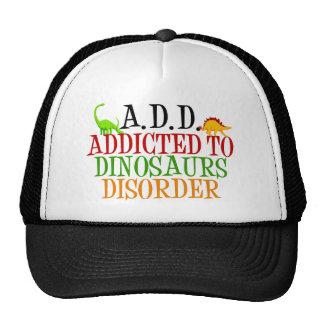 Enviciado a los dinosaurios desorden gorras de camionero