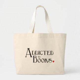 Enviciado a los libros bolsa tela grande