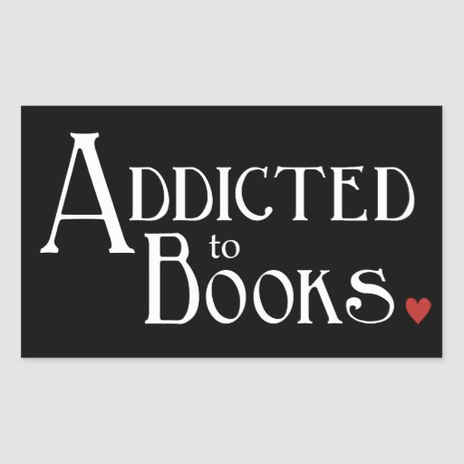 Enviciado a los libros pegatina rectangular