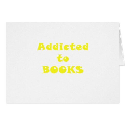 Enviciado a los libros tarjetón