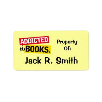Enviciado a los pegatinas del Bookplate de la Etiqueta De Dirección