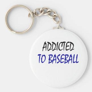 Enviciado al béisbol llavero redondo tipo pin