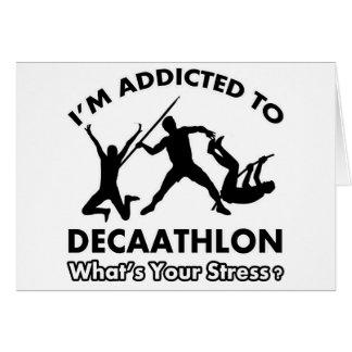 enviciado al decathlon tarjeta de felicitación