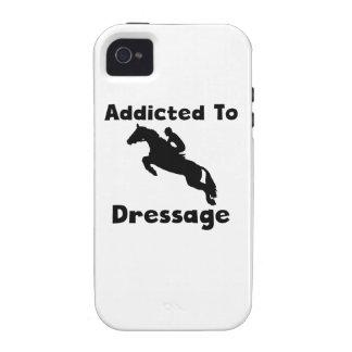 Enviciado al Dressage Vibe iPhone 4 Fundas