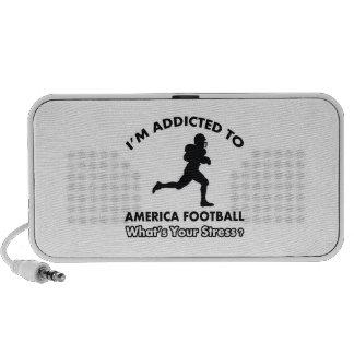 enviciado al fútbol americano altavoz de viajar