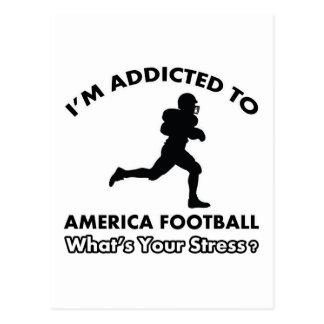 enviciado al fútbol americano tarjeta postal