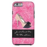 Enviciado al tacón alto del rosa del negro de los funda de iPhone 6 tough