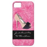 Enviciado al tacón alto del rosa del negro de los iPhone 5 cobertura