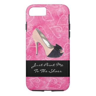 Enviciado al tacón alto del rosa del negro de los funda iPhone 7
