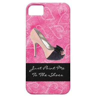 Enviciado al tacón alto del rosa del negro de los funda para iPhone SE/5/5s