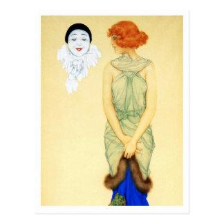 Envidia - de la serie del amor del Pierrot Tarjetas Postales