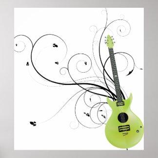 Envidia verde de la guitarra poster