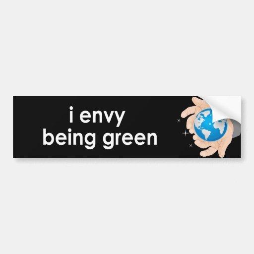 envidio ser verde - pegatina para auto