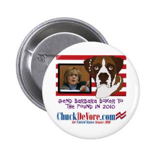 Envíe a Barbara Boxer a la libra en 2010 Pins