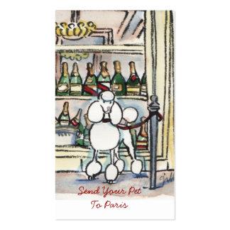 Envíe a su mascota a las tarjetas de visitas de tarjetas de visita