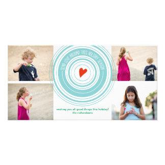 Envíe el amor alrededor de x4 tarjetas fotograficas personalizadas